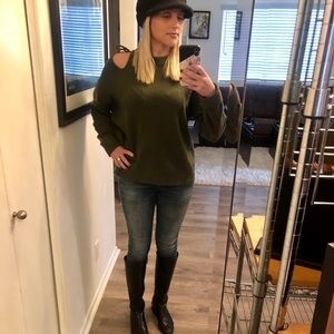 Never been worn! Olive green sweater.